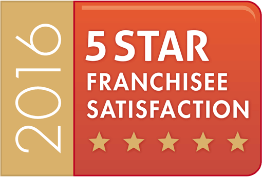 5 Star Franchisee Satisfaction for the 4th consecutive year