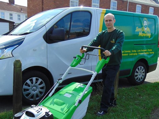 A new Jim's Mowing franchisee, Paul in Norwich
