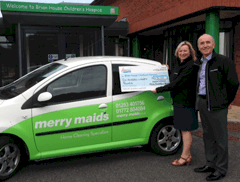 Cleaning company makes donation to Brian House Children's Hospice