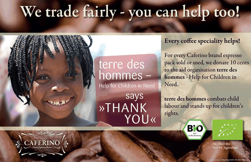 Coffee-Bike supports the aid organisation Terre des Hommes