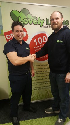 Dave and Louise Bunn, Lovely Lawn franchisees