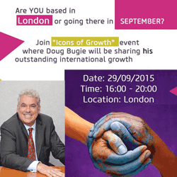 "Doug Bugie, president Antal International executive recruitment, announced as  special guest speaker at the ""Icons Of Growth"" in London"
