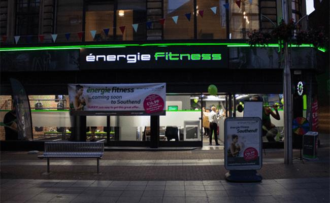 énergie Fitness Lights Up Southend-on-Sea