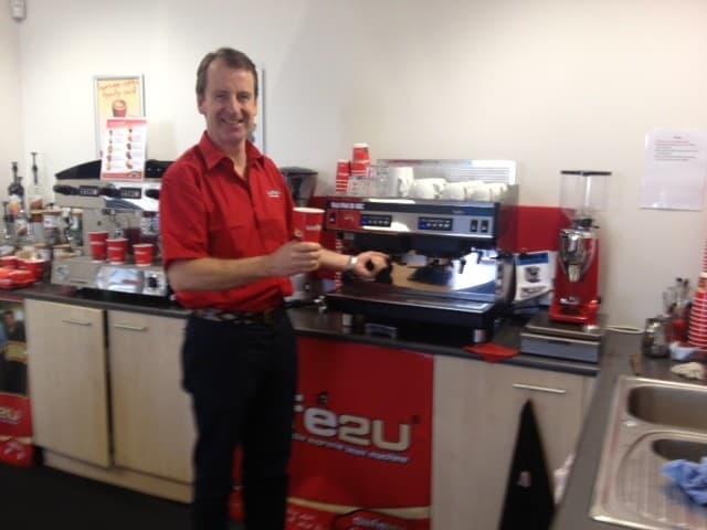 Handing over the keys at Cafe2U