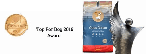 Husse's Opus Ocean wins best dry food at Top For Dog 2016
