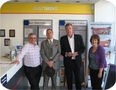 Jeremy Clarkson and AA Gill Pop into FASTSIGNS
