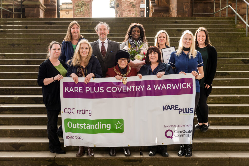 Kare Plus Coventry & Warwick Awarded Outstanding CQC Rating