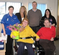 Local care provider's client celebrates five years of care