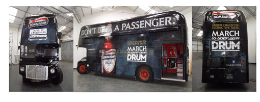 London Bus Wrap – All Aboard for Bombardier