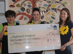 Merry Maids of Inverness raises £580 for Highland Hospice