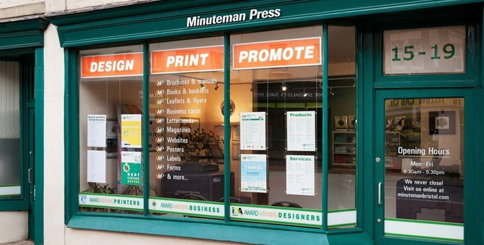 Minuteman Press Printing Franchise in Bristol, England Celebrates 12 Years in Business