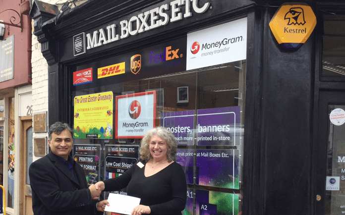 MoneyGram Rewards Sterling Performance at Mail Boxes Etc. Chichester