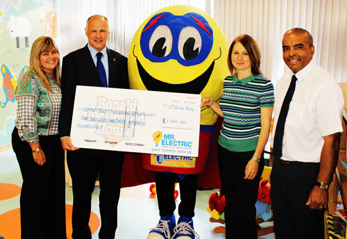 Mr Electric Birmingham raises £1,300 for Ronald McDonald house