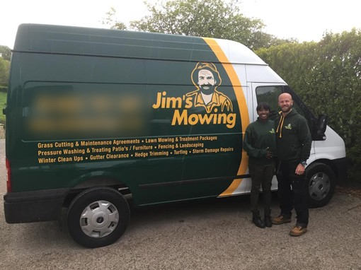 New Jim's Mowing franchisee, Sam