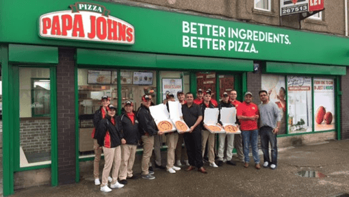 Papa John's Youngest Franchisee Opens Fourth Store