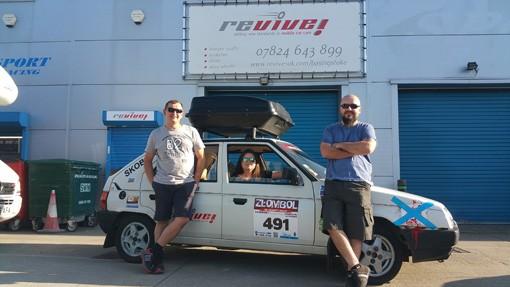 Revive! Basingstoke Drive Classic Skoda in Charity Rally