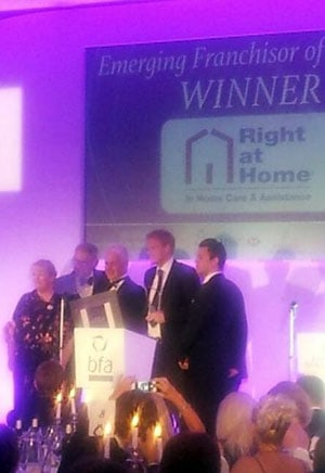 Right at Home UK has been announced as the British Franchise Association's Emerging Franchisor of the Year!
