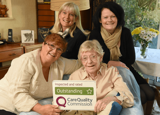 Super 7th CQC Outstanding Rating for Franchisor Home Instead Senior Care
