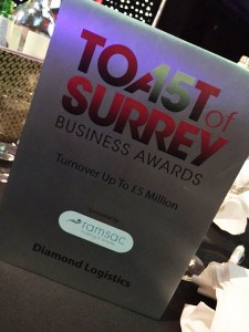 Toast Of Surrey Winners