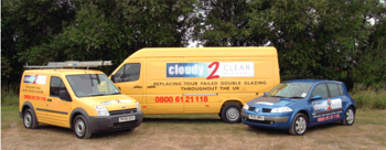 Cloudy to Clear fleet of vans and car