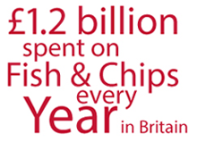 £1.2 billion spent on fish & chips every year in Britain