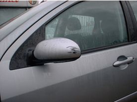 Grey Wing Mirror With Damaged Paint