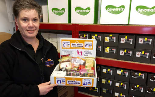 Rachel Apsey with Oast House Farm Snacks box