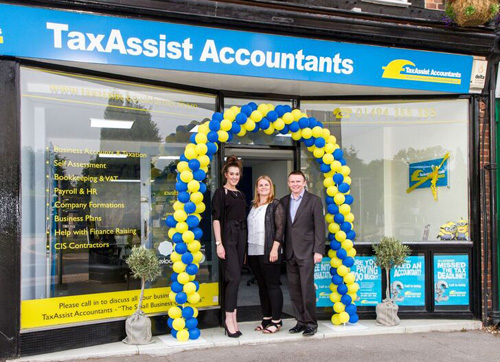 Mari McLoughlin outside her TaxAssist Accountants shop