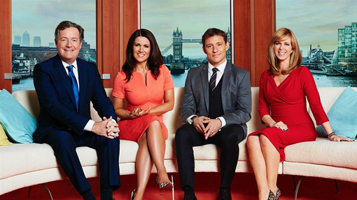 Good Morning Britain Cast on couch