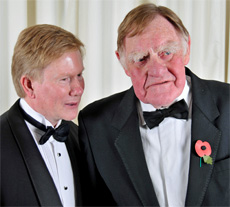Chris Allison (l) and Sir Bernard Ingham (r)