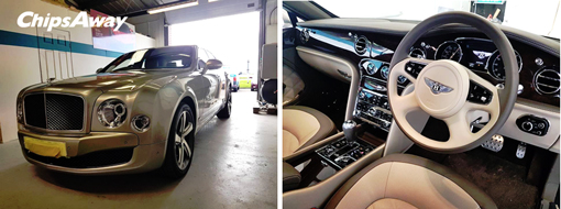 A £300,000 Bentley repaired by ChipsAway Specialist Mark Burns