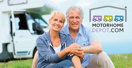 Couple with their motorhome
